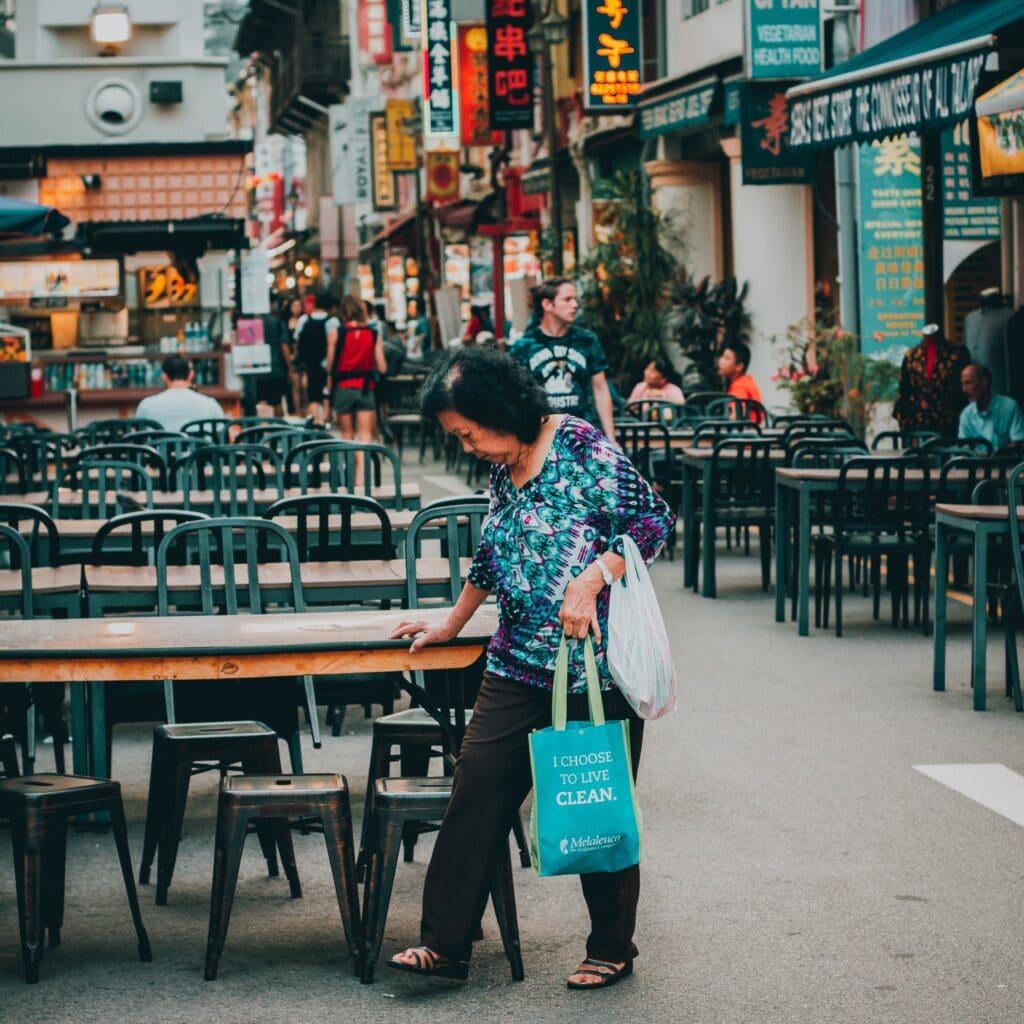 Hawker en Chinatown