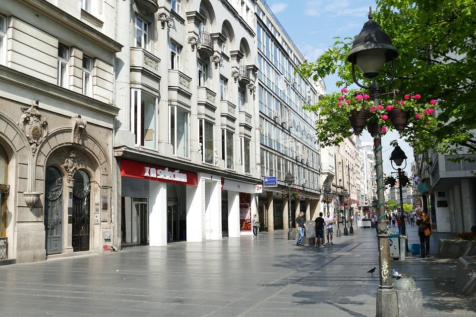 Calle Knez Mihailova, Fuente: falco-Calle, Pixabay