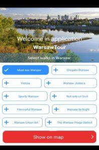 Aplicación Warsaw Tour