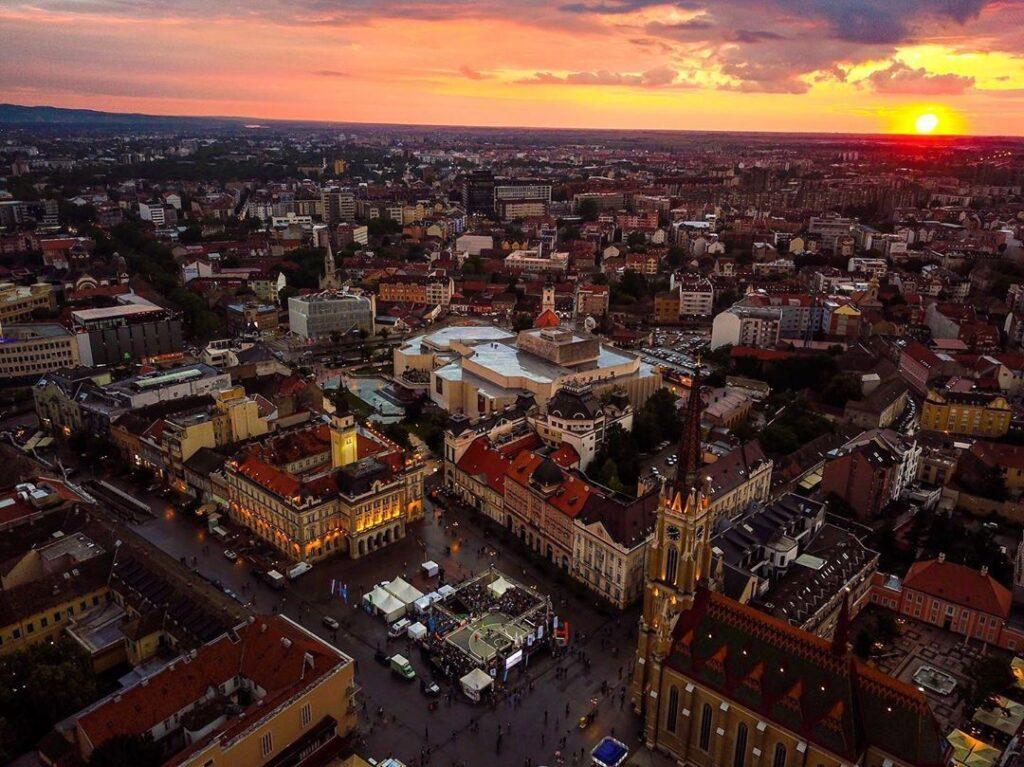 Panorama del casco viejo de Novi Sad, Fuente: @dusan.bulut, Instagram