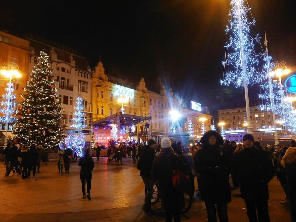Main square in Christmas