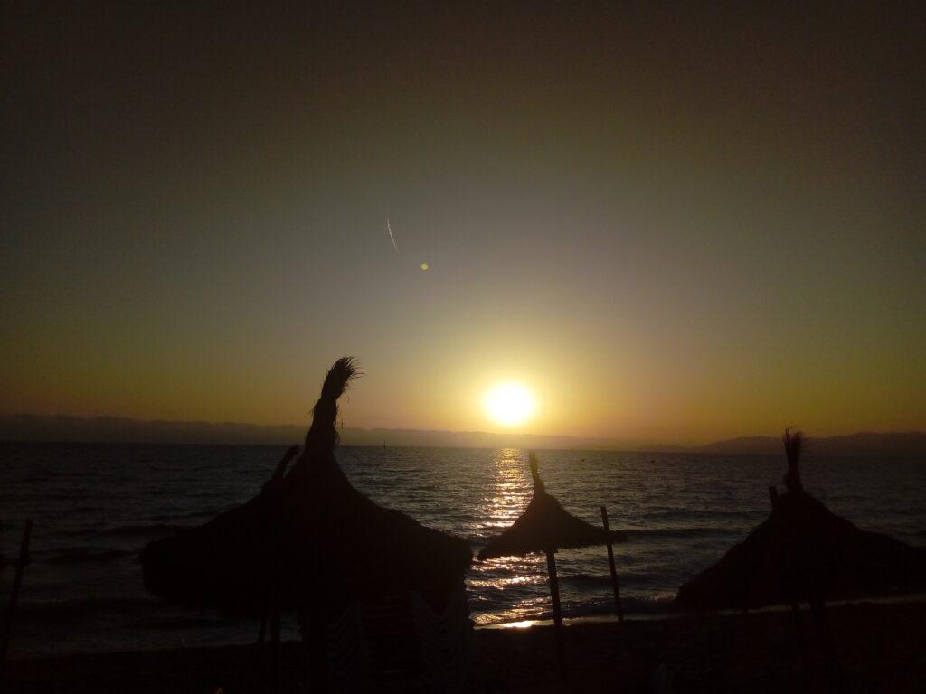 Atardecer en la playa de Palma