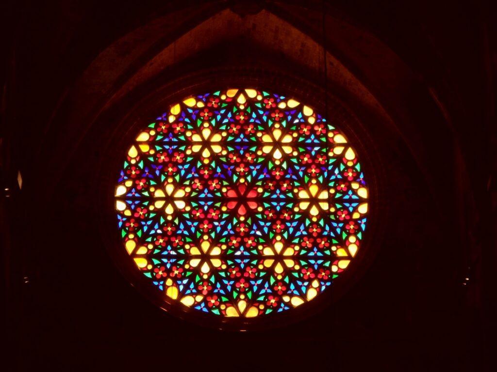 Rosetón mayor de la catedral de Palma